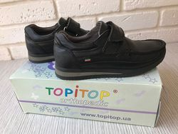 Туфли ТорiTop черная кожа, на липучках 31 p.