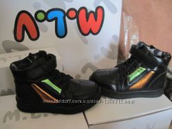 Новые деми ботинки MLV, черные, р. 26,28 унисекс