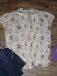 Нежная блуза на лето ZARA, 46 размер.
