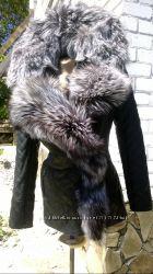В наличии 44 р куртка косуха из натуральной кожи и натуральной чернобурки