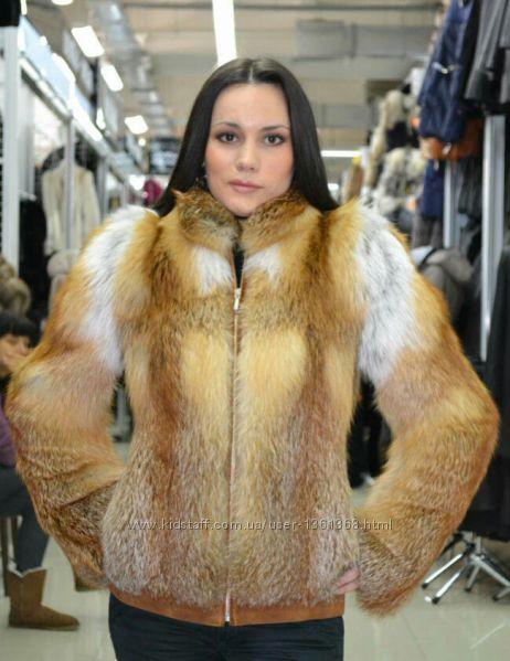 Куртка из натурального меха лисы огневки
