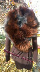 Шикарное пальто из кашемира и воротником чернобурки
