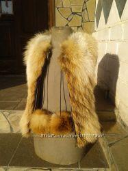 Жилет детский из натурального меха лисы