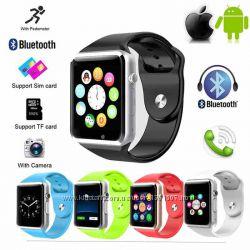Умные часы Smart watch A-1 Часы-телефон камера SD SIM