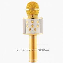 Караоке Микрофон колонка беспроводной с динамиком и USB входом Bluetooth