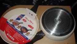 Сковорода алюмин. с антиприг. мраморным покрытием