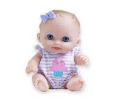 Виниловый пупс от JC Toys с голубыми глазками и бантом