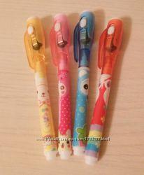 Ручка шпион с УФ фонариком невидимка с невидимыми чернилами для шпаргалок