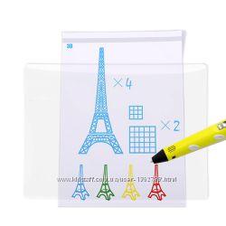 Силиконовый прозрачный коврик для рисования 3д ручкой Myriwell и другими