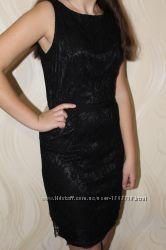Черное нарядное платье Oodji