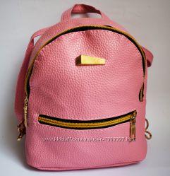 Розовый Мини рюкзак экокожа