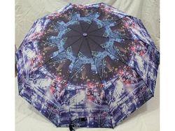 Женские зонты  полуавтомат с городами