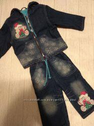 Костюм куртка джинсы на годик Глориа Джинс