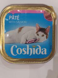 Корм консервы для кошек Coshida рагу с лососем 100гр.