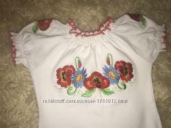 Вышиванка-футболка на девочку 2-3 годика