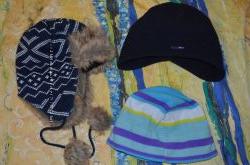 Флисовая шапка на 10-11 лет, шапка ушанка 7-9 лет