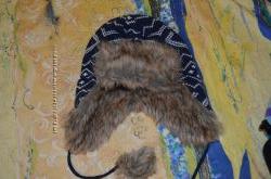 Шапка ушанка 7-9 лет, спортивная флисовая шапка