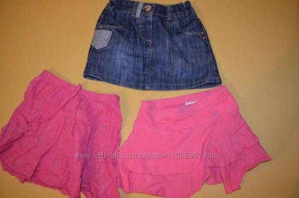 Джинсовая юбка Некст 3-4 года, летние юбки дешево
