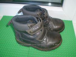 демисезонные ботинки Clarks 5 G , стелька 14 см кожа