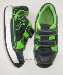 полуботинки ботинки Clarks 10 G, 18 см Кожа