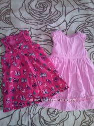Фирменные велветовые платья на 2-3 годика