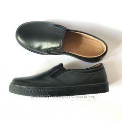 Туфли-мокасины в школу 11 Shoes, кожа, р. 30-38