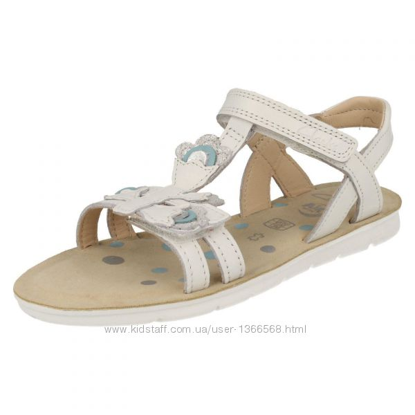Шкіряні сандалі Clarks CLA MimoGrac White Leather