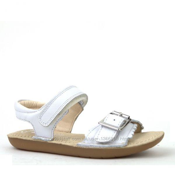 Шкіряні сандалі Clarks Ivy Blossom Jnr White