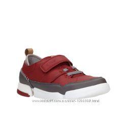 Шкіряні кросівки Clarks Tri Scotty Jnr Red