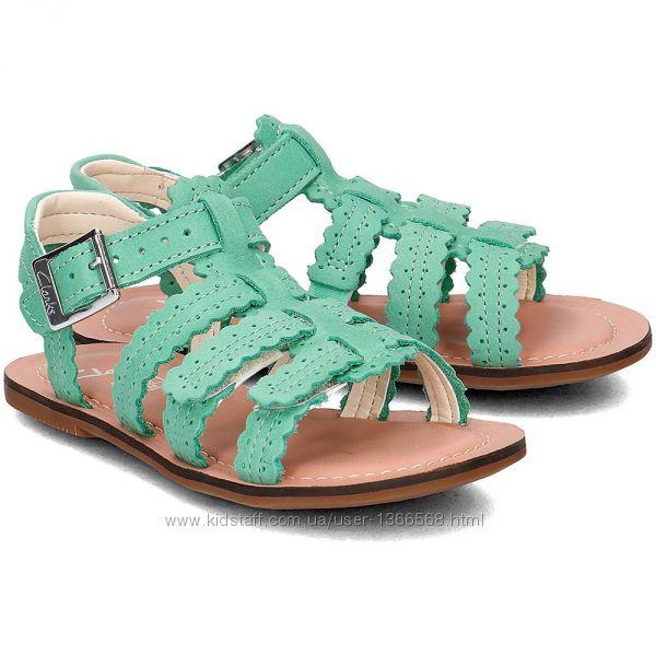 Шкіряні сандалі Clarks Loni Moon Green