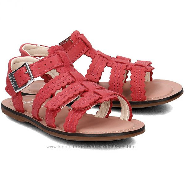 Шкіряні сандалі Clarks Loni Moon Pink