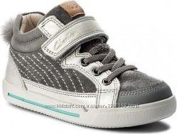 Шкіряні черевики Clarks Lilfolk Boo Metallic
