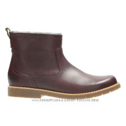 Шкіряні черевики Clarks Tildy Moe Inf Burgundy