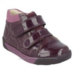 Шкіряні черевики Clarks Lil Folkemy Pre Plum