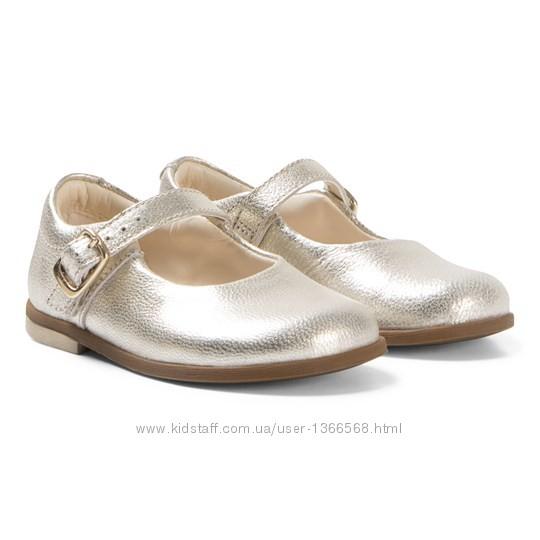 Шкіряні туфлі Clarks Drew Sky Gold