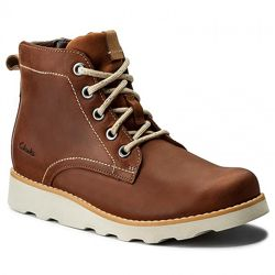 Шкіряні черевики Clarks Dexy Top Inf Brown