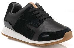 Шкіряні кросівки Clarks Myles Street Black