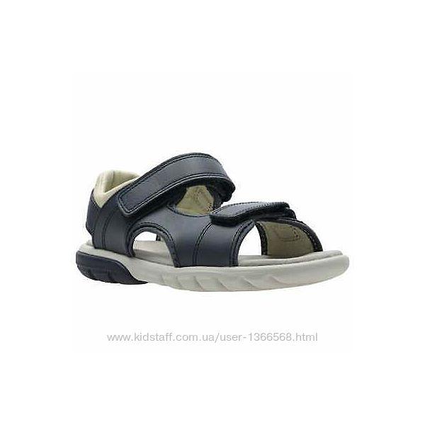 Шкіряні сандалі Clarks Rocco Wave Y Navy