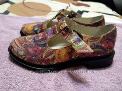 Роскошные эксклюзивные туфли натуральная кожа принт