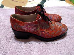 Комфортные стильные туфли натуральная кожа на шнуровке