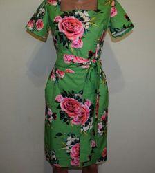 Шикарное платье цветочный принт
