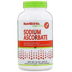 NutriBiotic, Аскорбат натрия, кристаллический порошок, 454 г