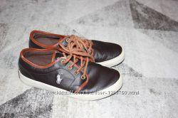 Кожаные туфли на мальчика Polo Ralph Lauren оригинал размер  32, 5