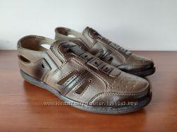 Туфли босоножки сандалии мужские летние коричневые