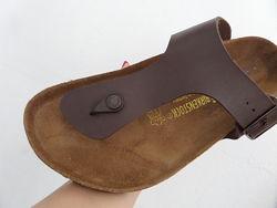 Шлепанцы сланцы Birkenstock сандалии мужские кожаные. Германия. Оригинал. 4