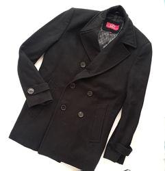 Классическое пальто двубортное шерстяное