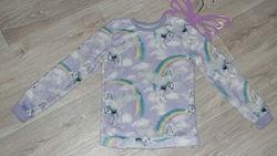 Фирменная пижамная махровая кофта F&F 10-12л