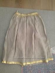 Max Mara MAX MARA WEEKEND Оригинал юбка миди р. 40 38 лен золото