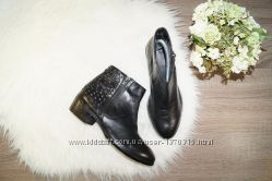 39р. 25. 5см Bronx Кожа Базовые ботинки на широким каблуке с декорирован