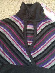 Трикотажное платье туника, новое с бирочкой